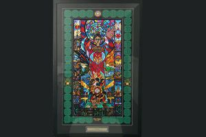 All Hallows Catholic Primay School Five Dock - stained glass work on school's wall